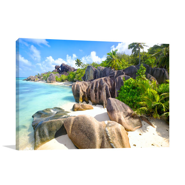 La Digue Seychelles Print Picture