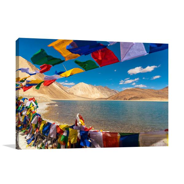 Lake in Ladakh Artwork Print