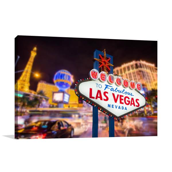 Las Vegas Art Print Sign Artwork Photo