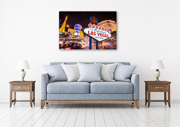 Las Vegas Art Print Sign Canvas Artwork