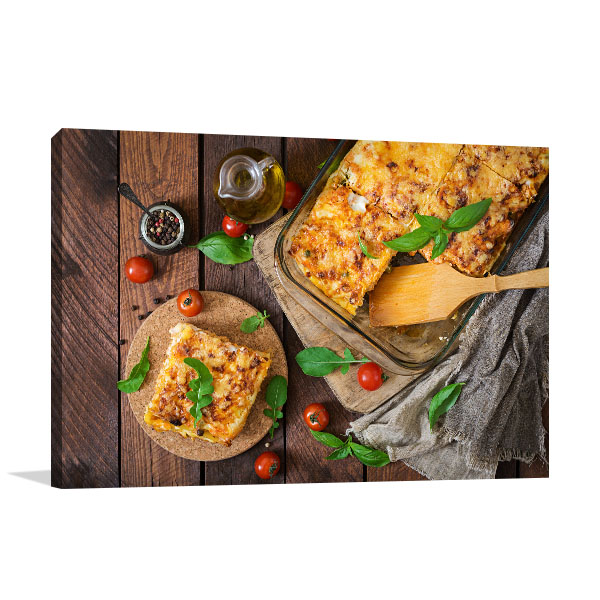 Lasagna Photo Print Picture Design