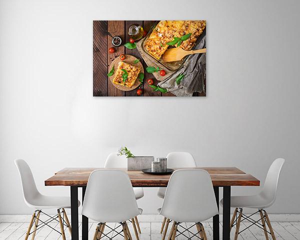 Lasagna Canvas Art Wall Hanging