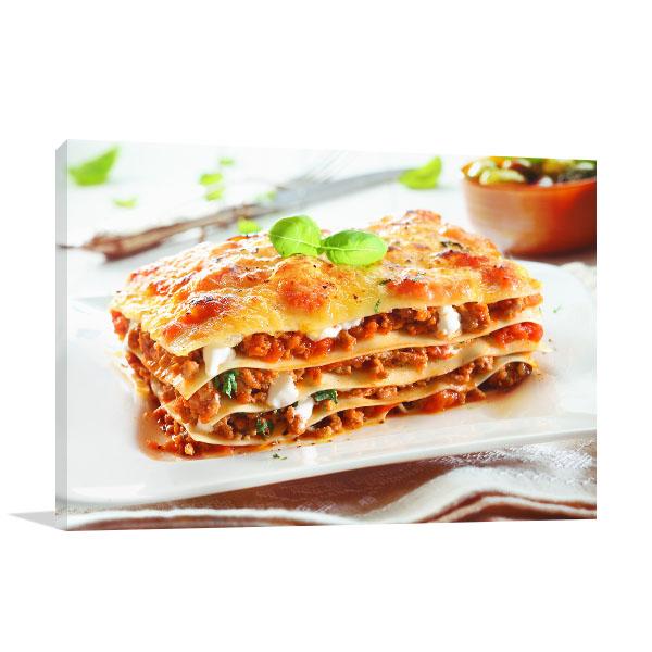 Lasagna Wall Art Photo Print