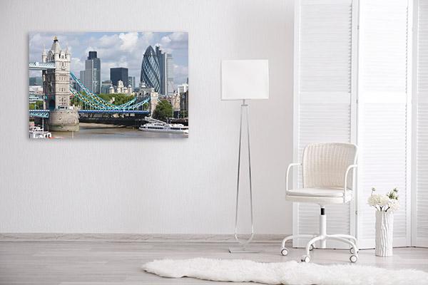 London Canvas Art Print Gherkin Wall Artwork