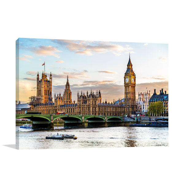 London Wall Art Print Westminster Photo Canvas
