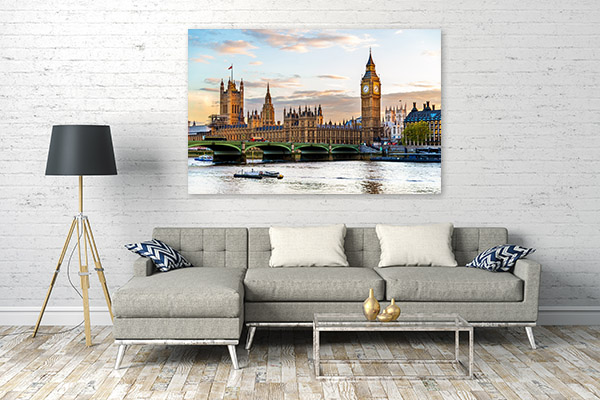 London Wall Art Print Westminster Artwork Canvas