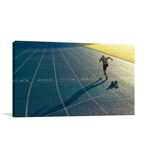 Lone Track and Field Athlete Print Picture