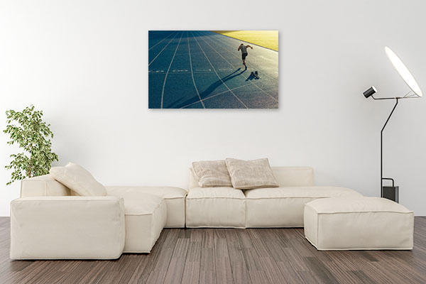 Lone Track and Field Athlete Photo Print