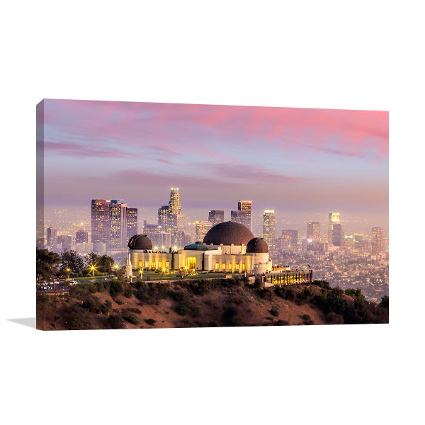 Los Angeles Art Print Griffiths Observatory Artwork Picture