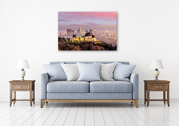 Los Angeles Art Print Griffiths Observatory Picture Canvas