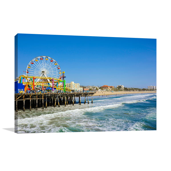 Los Angeles Art Print Santa Monica Pier Picture Artwork