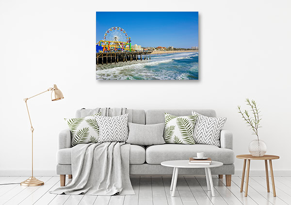 Los Angeles Art Print Santa Monica Pier Canvas Artwork