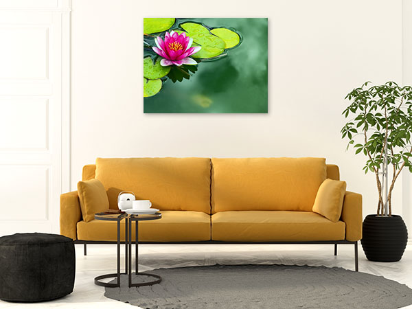 Lotus Pond Picture Canvas