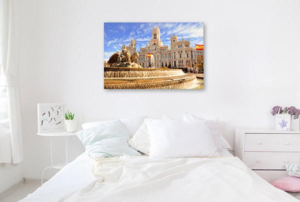 Madrid Art Print Fountain Wall Canvas