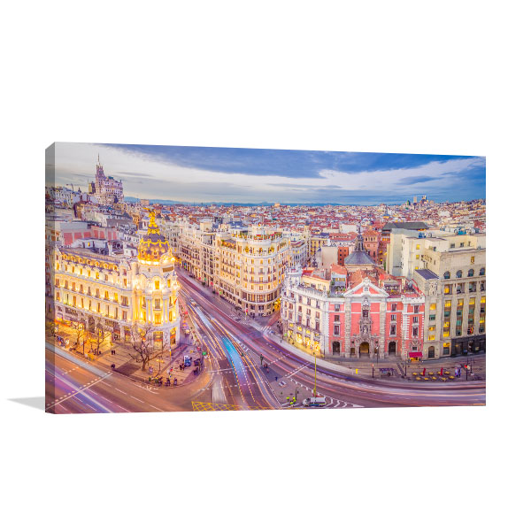 Madrid Art Print Spain Picture Wall