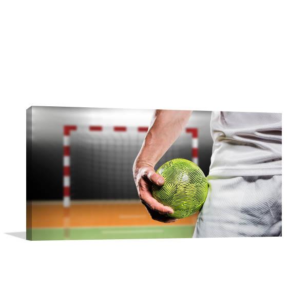 Man Holding Handball Picture Print