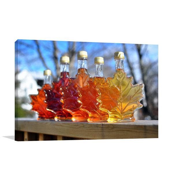 Maple Syrup Bottles Canvas Prints
