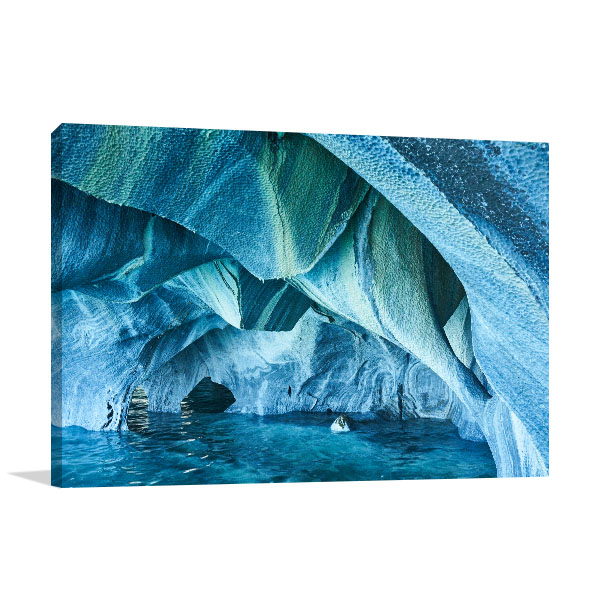 Marble Caves Chile Wall Art Print