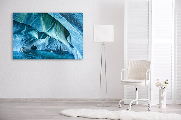 Marble Caves Chile Canvas Art