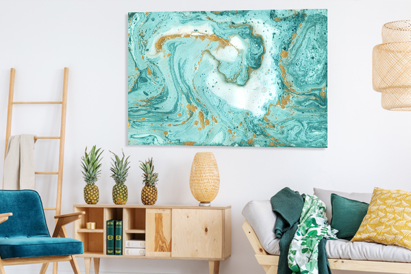 Marble Ocean 1 Canvas Wall