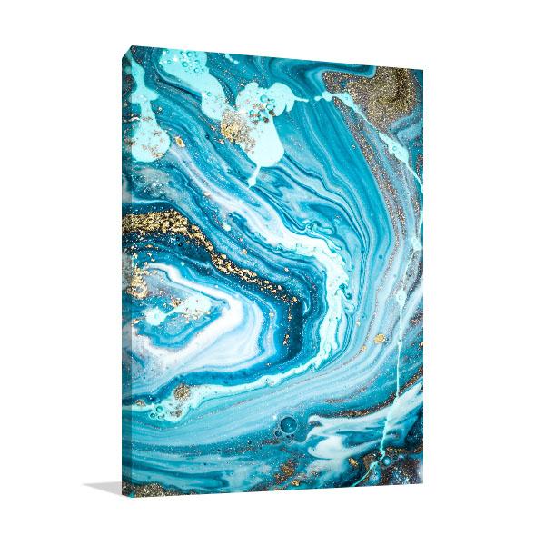 Marble Ocean 4 Wall Canvas