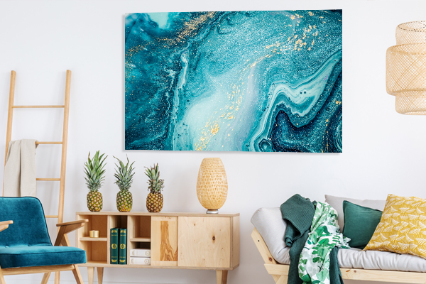 Marble Ocean 5 Print Art Canvas