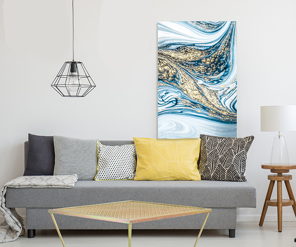 Marble Ocean 6 Canvas Art Prints