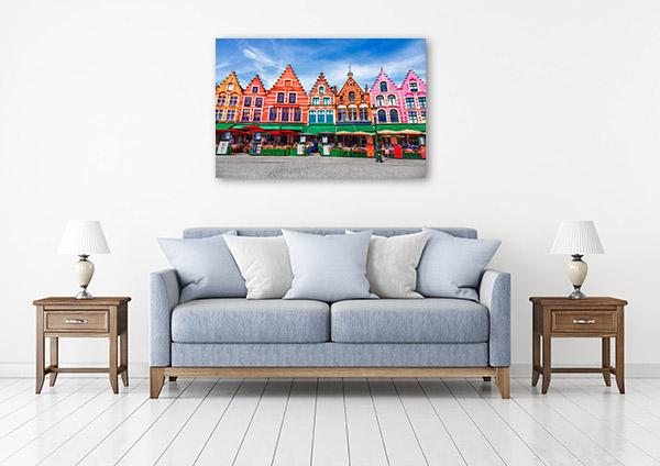 Market Square Art Print Bruges Wall Artwork