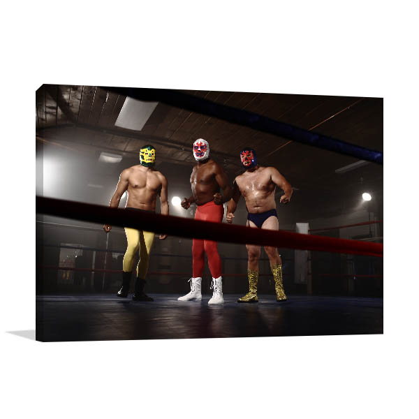 Masked Wrestlers Photo Wall Arts