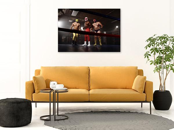 Masked Wrestlers Canvas Art Prints
