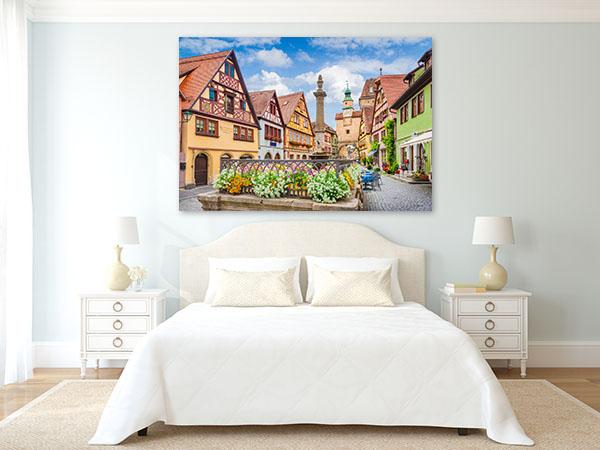 Medieval Village Art Print Rothenburg Wall Canvas