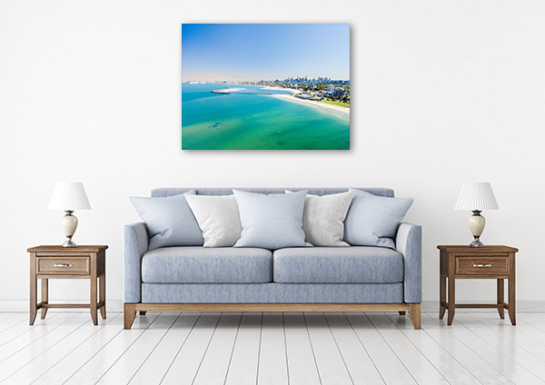Melbourne Art Print St Kilda Beach Picture Wall