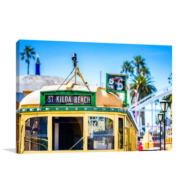 Melbourne Wall Art Print W-Class Tram Canvas Art