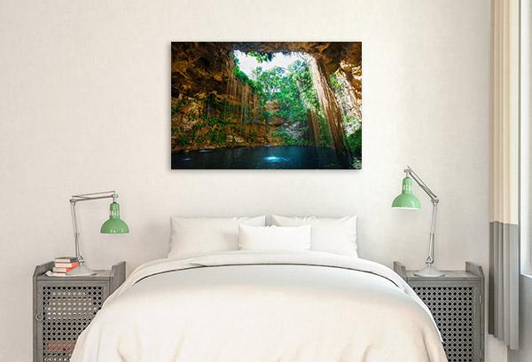 Mexico Canvas Art Print Cenote Wall Picture