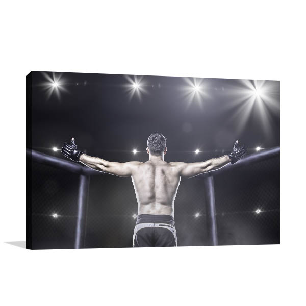 MMA Fighter Art Print Victory Photo Wall