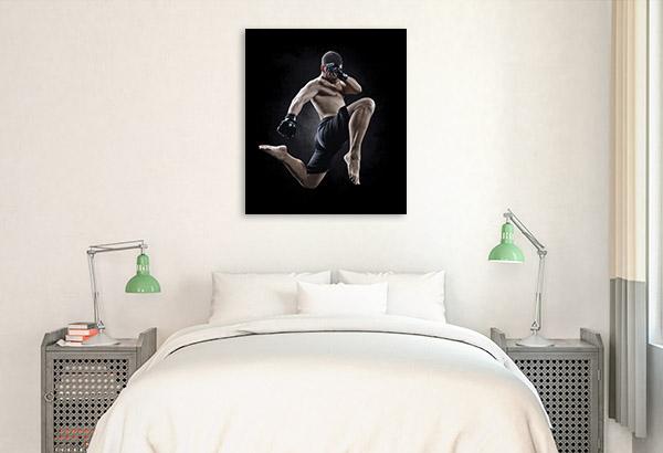 MMA Flying Kick Artwork