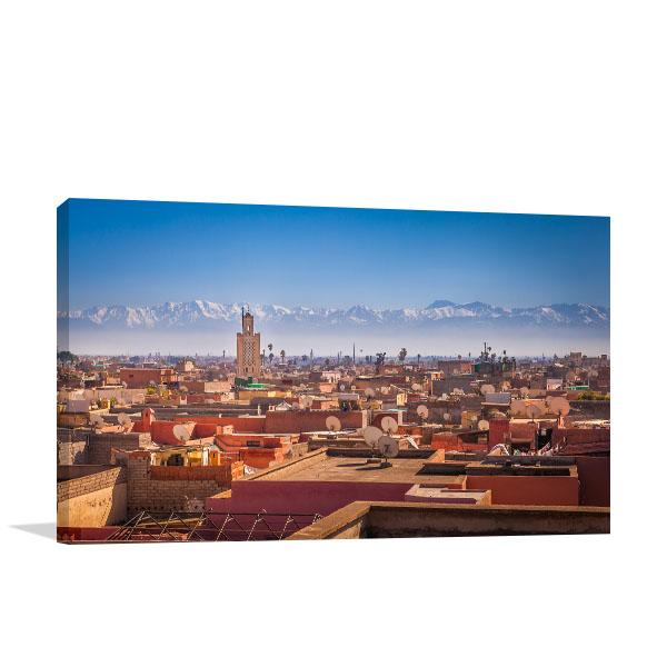 Morocco Art Print Marrakesh Photo Canvas