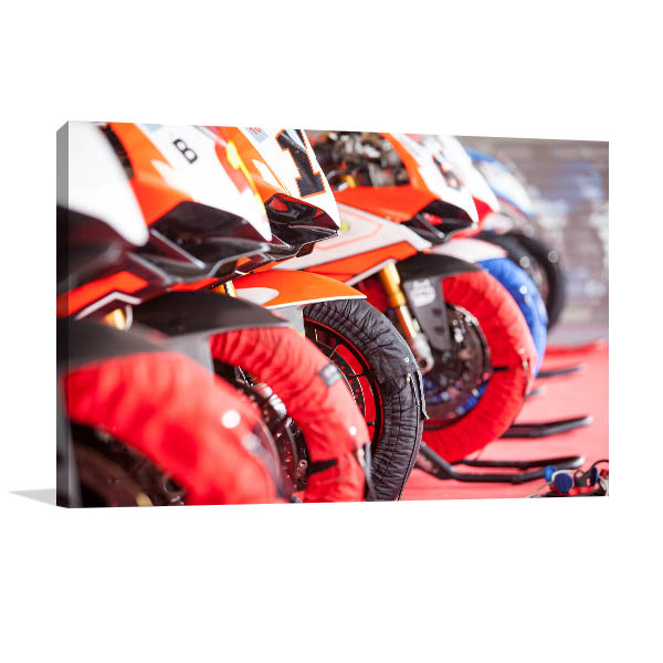 Motorcycle Wheels Prints Canvas