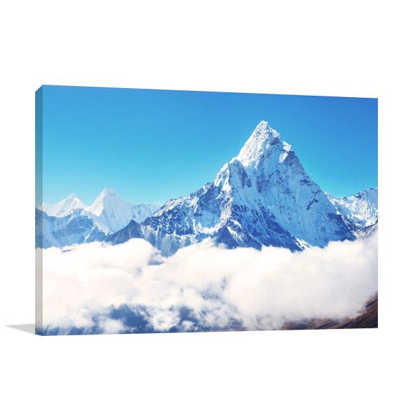 Mt Everest Top Canvas Prints