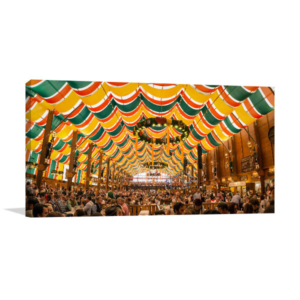 Munich Art Print Oktoberfest Canvas Artwork