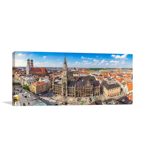 Munich Skyline Wall Art Print