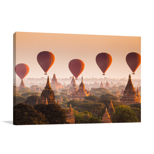 Myanmar Art Print Bagan Artwork Wall