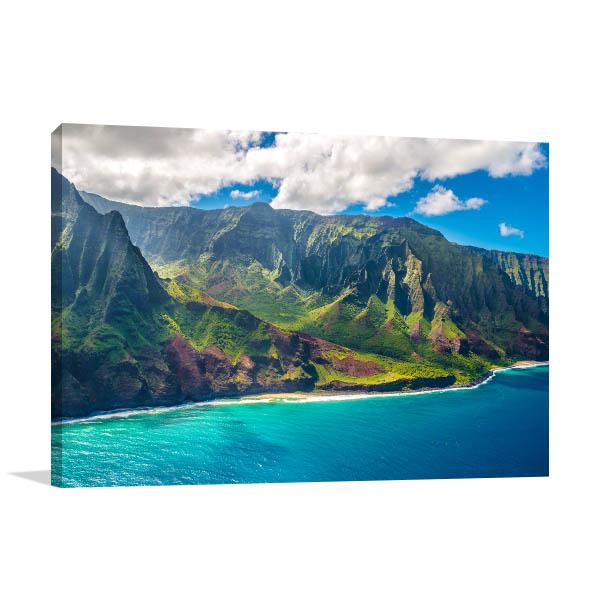 Napali Coast Hawaii Art Picture
