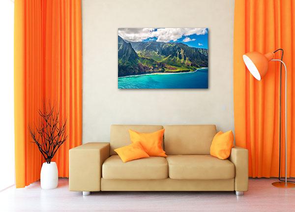 Napali Coast Hawaii Artwork Canvas