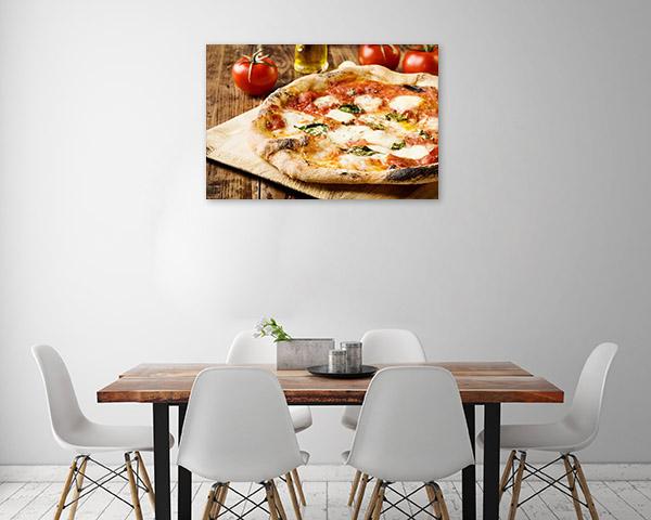 Neapolitan Pizza Print Art Canvas