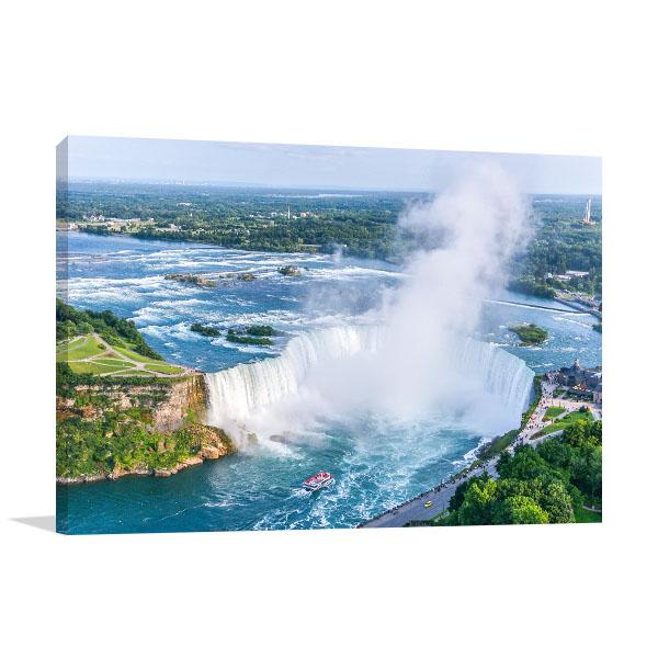 Niagara Falls Art Print Aerial View Canvas Wall