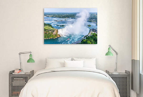 Niagara Falls Art Print Aerial View Picture Artwork