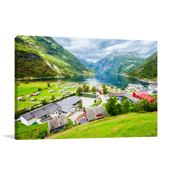 Norway Art Print Geirangerfjord Wall Artwork