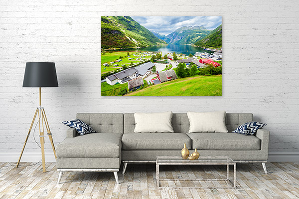 Norway Art Print Geirangerfjord Wall Canvas