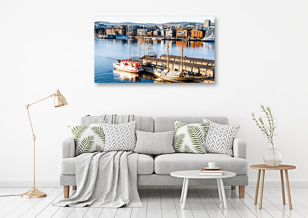 Norway Art Print Oslo Port Picture Artwork